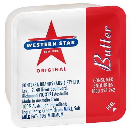 Western Star Salted Butter 8g Portions x 200
