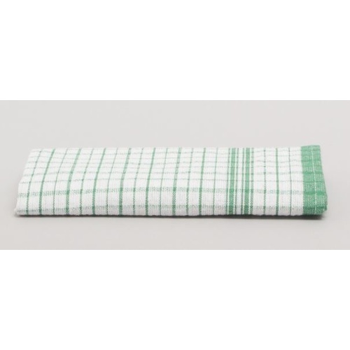 Green Check Tea Towel 100% Cotton