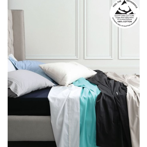 Long Single Sheet Set Egyptian Cotton - Pewter