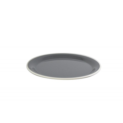 Melamine Round Plate Grey/White 200mm
