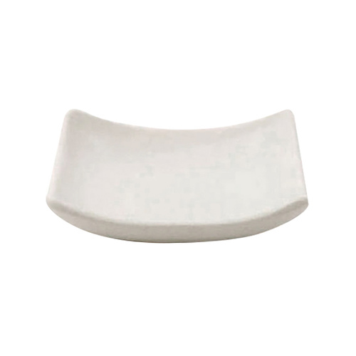 Melamine Soap Dish Curved White