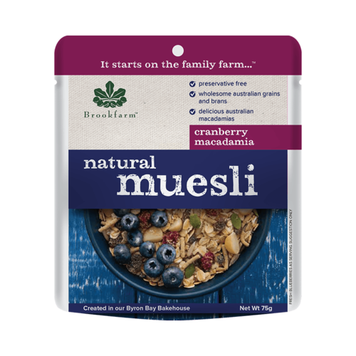 Sachet Natural Muesli w/Cranberry 75g