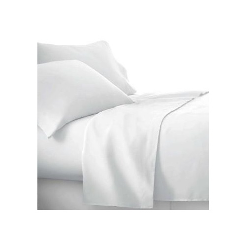 King Flat Sheet Cotton Rich Percale White