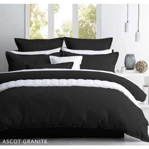 Granite Waffle Quilt Cover Set - Single