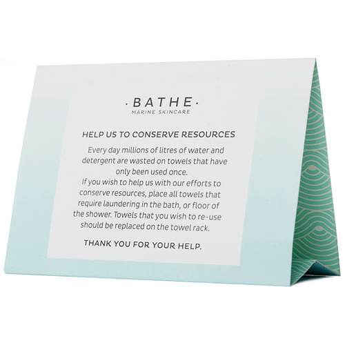 Bathe Marine Tent Card (1 piece)