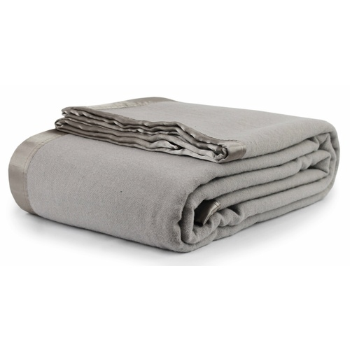 Jason Wool Blanket Silver - Queen / King