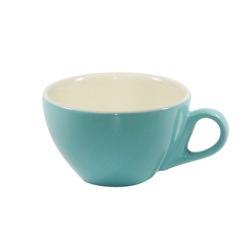 Brew-Teal/White Cappuccino Cup 220Ml x 6