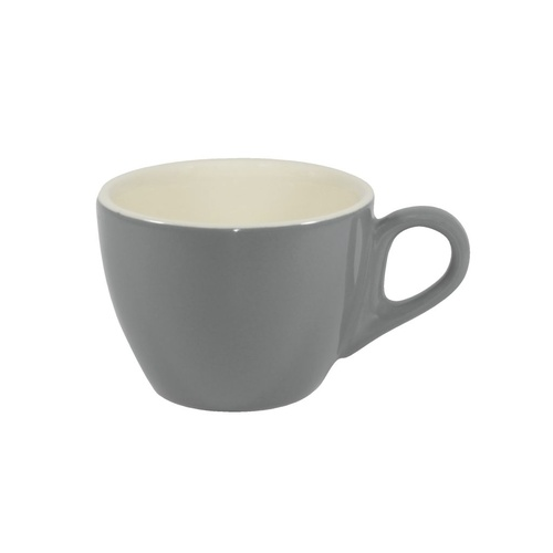 Brew-French Grey/White Large Flat White  Cup 220Ml x 6