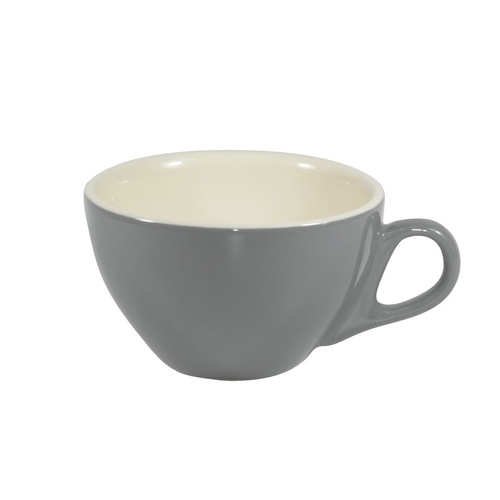 Brew-French Grey/White Cappuccino Cup 220Ml x 6