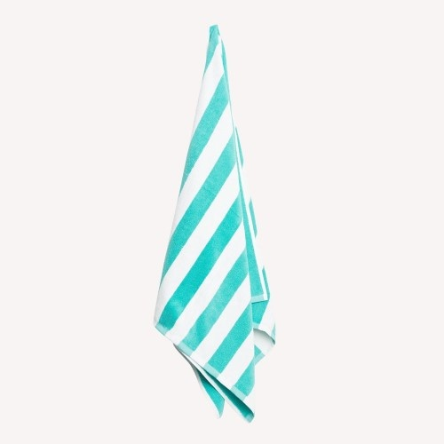 Green Striped Pool Towel