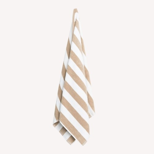 Latte Striped Pool Towel