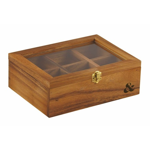 Davis & Waddell Acacia Wood Tea Box