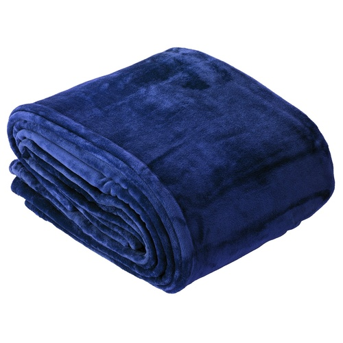 Indigo Ultra Soft Velvet Blanket - Double