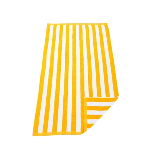 Hawaiian Striped Beach Towel - Yellow