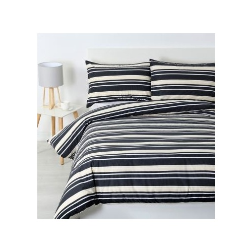 Brighton Quilt Cover Set Charcoal - Single