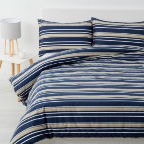 Brighton Quilt Cover Set Navy - King