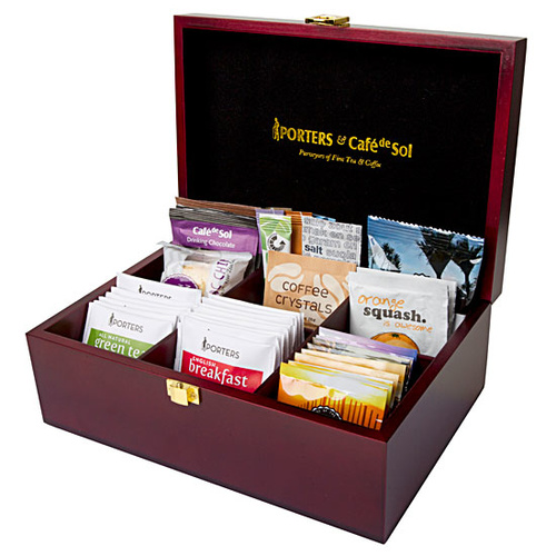 Wooden Tea And Coffee Beverage Display Box