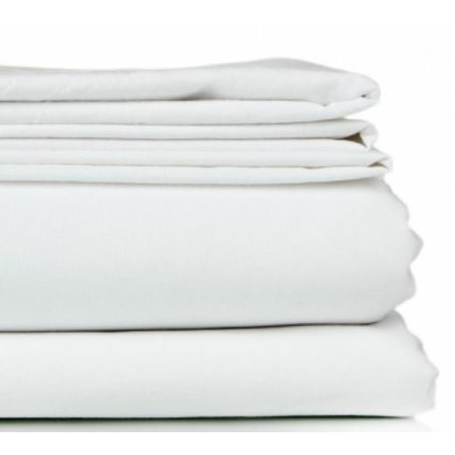 Crisp Single Flat Sheet - White