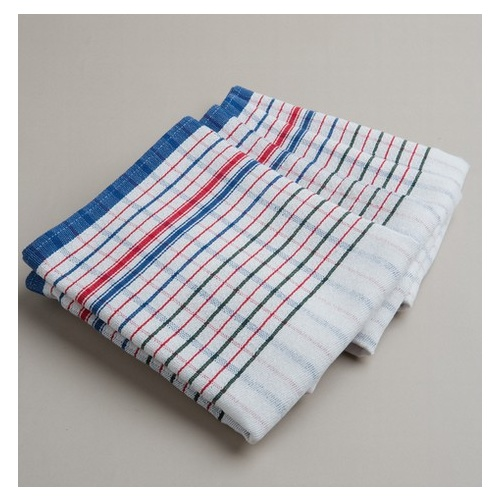 Tea Towel - Red & Blue Check x 10